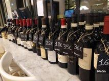 Bottles of Italian wine for sale