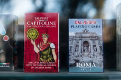 Dal Negro playing cards royalty free stock images
