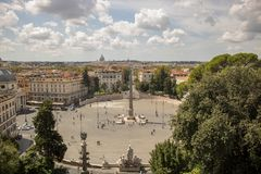 Piazza del Popolo, Rome. stock photo