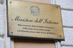 Italian Ministry of Interior Department royalty free stock images
