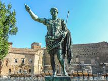 Statue of Roman Emperor Augustus in Rome royalty free stock photos