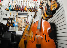 Rome, Italy. September 20th 2016.  Double bass and guitars in st Stock Images