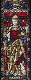 ROME, ITALY. 2016: The St. Anselm on the stained glass of All Saints' Anglican Church by workroom Clayton and Hall. ROME, ITALY - MARCH 9. 2016: The St. Anselm Stock Photo