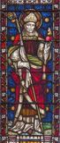 ROME, ITALY. 2016: The St. Augustine on the stained glass of All Saints' Anglican Church by workroom Clayton and Hall Stock Photo