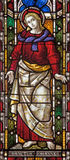 ROME, ITALY: The St. John the Evangelist on the stained glass of All Saints' Anglican Church by workroom Clayton and Hall Royalty Free Stock Photo