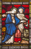 ROME, ITALY: St. John and Virgin Mary on the windowpane of All Saints' Anglican Church Royalty Free Stock Image
