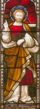 ROME, ITALY: St. Paul the apostle on the windowpane of All Saints' Anglican Church by workroom Clayton and Hall. Royalty Free Stock Photo