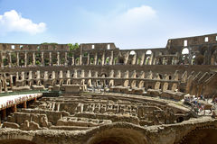 ROME, ITALY -7th of June 2014: Colosseum (inside) Stock Images
