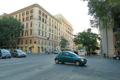 Rome, Italy. Traffic at the intersection of streets Stock Photography
