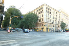 Rome, Italy. Traffic at the intersection of streets Stock Photo