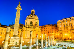 Rome, Italy - Trajan Column Stock Photo