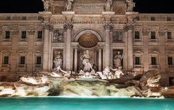 Rome, Italy: Trevi Fountain, Italian: Fontana di Trevi, at night Stock Photos