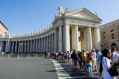 ROME, ITALY, VATICAN CITY – JULY 4th 2015. Pilgrims and touris Royalty Free Stock Photos