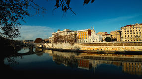 Rome, Italy. View from the embankment of the Cathedral of St. Pe Royalty Free Stock Images