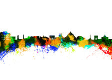 Rome Italy. Watercolor art print of the Skyline of Rome Italy Royalty Free Stock Images