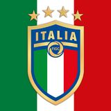 ROME, ITALY, YEAR 2017 - New logo Italian Football Federation FIGC on italian flag. Vector file, illustration Stock Image