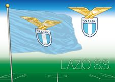 ROME, ITALY, YEAR 2017 - Serie A football championship, 2017 flag of the Lazio team royalty free illustration