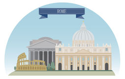 Rome royalty free illustration