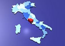 Rome and its province. All regions of Italy and highlighted the province of Rome Stock Images