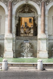 Rome - Janiculum. The Fontana dell'Acqua Paola also known as Il Fontanone (The big fountain) is a monumental fountain located on the Janiculum Hill in Rome Stock Photos