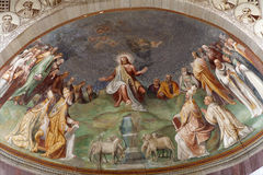 Rome - Jesus the Teacher fresco Royalty Free Stock Photography