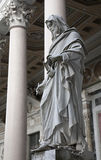 Rome - John the Evangelist statue. Detail of st. John the Evangelist statue in the atrium of st. Paul s basilica. in Rome, Italy Royalty Free Stock Photos
