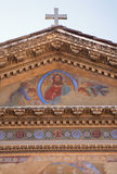 Rome - Jésus de façade de Santa Pudenziana Photographie stock