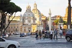 19 Rome-JULI: De Kerk van de Heiligste Naam van Mary bij het Trajan-Forum op 19,2013 Juli in Rome, Italië. Royalty-vrije Stock Fotografie