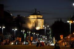 20 Rome-JULI: Rome bij nacht op 20,2010 Juli, Italië. Stock Afbeelding