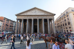 ROME - JULY 21, 2015: The Pantheon, Rome, Italy. Pantheon is a famous monument of ancient Roman culture. Royalty Free Stock Image