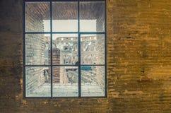 ROME - JUNI 14, 2014: Roman Colosseum inre Inre galleri Royaltyfria Bilder