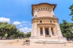 ROME - JUNI 14, 2014: Turistbesökvilla Borghese Staden på Arkivbild