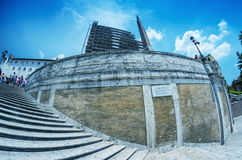 ROME - JUNI 14, 2014: Turister i Piazza di Spagna Staden att Royaltyfri Bild