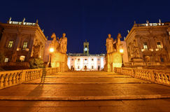 Rome Kapitolium Arkivfoto