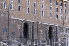Rome Kapitoliumslottdetalj Arkivbilder