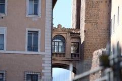Rome Kapitoliumslottdetalj Royaltyfri Foto