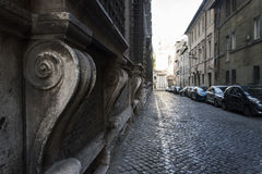 Rome keeps silent about road Stock Image