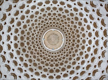 Rome - kupolen av kyrklig Chiesa di San Bernardo alle Terme med diametern 22 M Arkivfoto