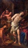 Rome - la flagellation du Christ par Andrea Casali (1777) dans le degli Spanoli de Santissima Trinita de della de Chiesa d'église Photographie stock libre de droits