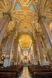 Rome - la nef de l'Anima de vallon de Santa Maria d'église Photos libres de droits