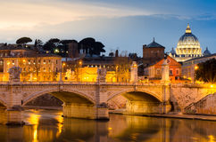 Rome la nuit Images stock