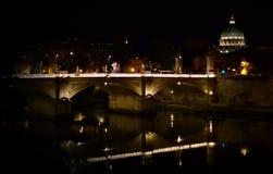 Rome la nuit Photographie stock libre de droits