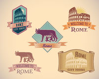Rome labels Royalty Free Stock Photography