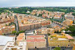 Rome landscape. Rome, landscape seen from San Peters Basilica in June 2010 Royalty Free Stock Image