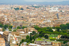 Rome landscape. Rome, landscape seen from San Peters Basilica in June 2010 Royalty Free Stock Photos