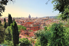 Rome landscape. Rome, Itlay landscape as seen from Villa Borghese Stock Images