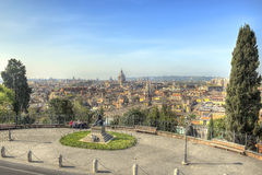 Rome landscape HDR. View of Rome from Villa Borghese Royalty Free Stock Image