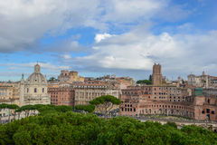 Rome landscape. View of main piazza in Rome, Italy Royalty Free Stock Photography