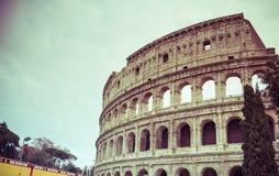 Rome, Lazio, Italië, December 2018: Colosseum of Coliseum, ook als Flavian Amphitheatre wordt bekend, zijn een ovale amphitheatre stock foto's