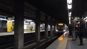 Metro arriving at Tiburtina Station